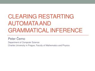 Clearing Restarting Automata and Grammatical Inference