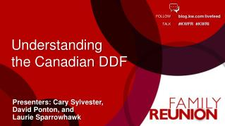 Understanding  the Canadian DDF