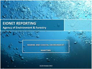 EIONET REPORTING Agency of Environment & Forestry