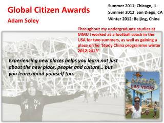 Global Citizen Awards Adam Soley