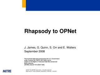 Rhapsody to  OPNet