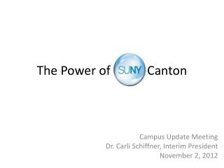 The Power of SUNY Canton