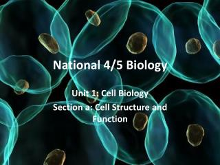 National 4/5 Biology