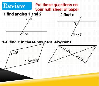1.find angles 1 and 2