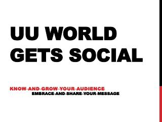 UU World Gets social