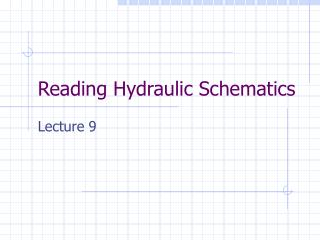 Reading Hydraulic Schematics