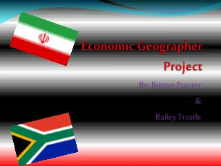 Economic Geographer  Project