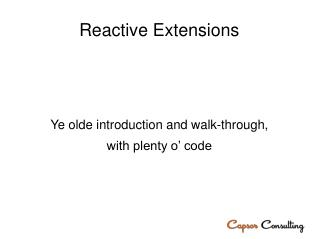 Reactive Extensions