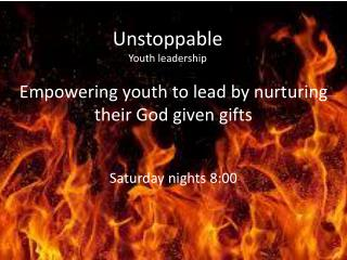 Unstoppable Youth leadership