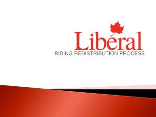 RIDING REDISTRIBUTION PROCESS