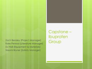 Capstone – Ibuprofen Group