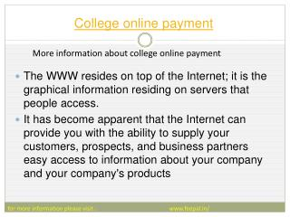 Advantages of college online payment