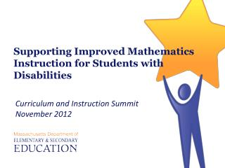 Supporting Improved Mathematics Instruction for Students with Disabilities