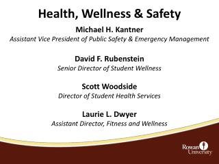 Health, Wellness & Safety
