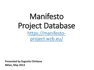 Manifesto Project Database https://manifesto-project.wzb.eu/