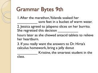 Grammar Bytes 9th