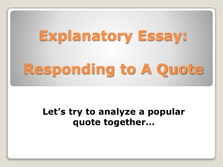 Essay Modes: Different kinds of essays