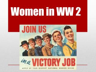 Women in WW 2