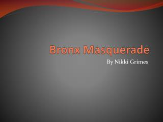a contemporary summary of bronx masquerade by nikki grimes