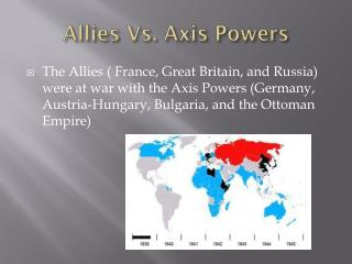 Allies Vs. Axis Powers