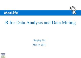 R for Data Analysis and Data Mining