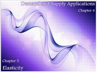 Demand and Supply Applications Chapter  4
