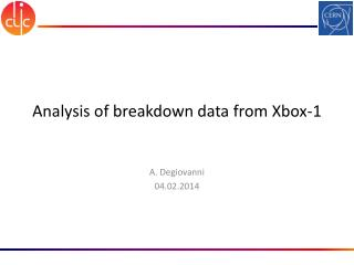 Analysis of breakdown data from Xbox-1