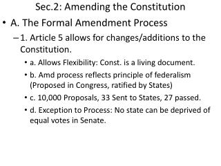 Sec.2: Amending the Constitution