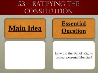 5.3 – ratifying the constitution