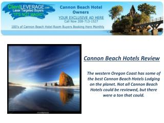 Cannon Beach Hotels - Paradise for Your Summer Vacation Deal