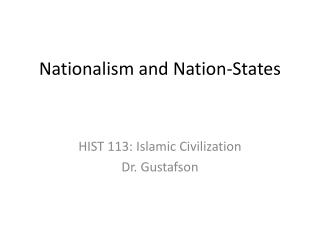 Nationalism and Nation-States