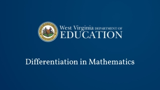 Differentiating Instruction: What s it all about
