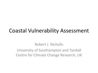 Coastal Vulnerability Assessment
