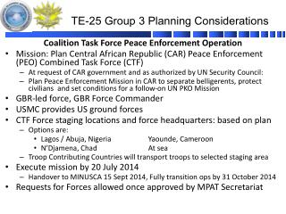 TE-25 Group  3  Planning Considerations