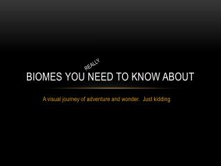 Biomes you need to know about