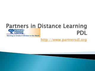 Partners in Distance Learning PDL