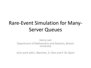 Rare-Event Simulation for Many-Server Queues