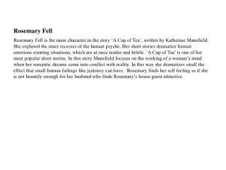 Rosemary Fell