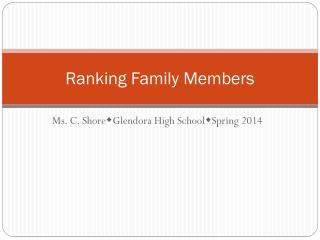 Ranking Family Members