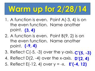 Warm up for 2/28/14