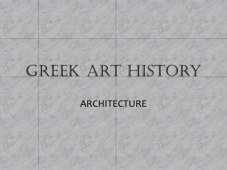 Greek art  history