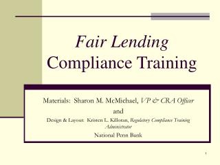 Fair Lending Compliance Training