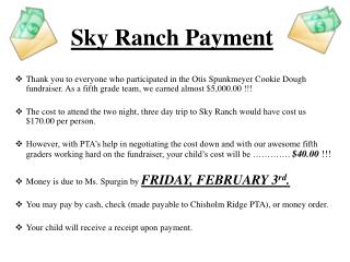 Sky Ranch Payment