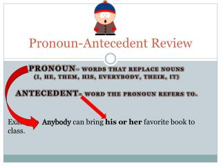 Pronoun-Antecedent Review