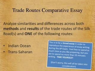 Trade Routes Comparative Essay