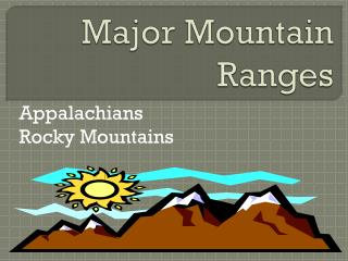 Major Mountain Ranges