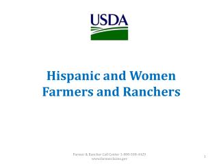 Hispanic  and  Women Farmers  and Ranchers