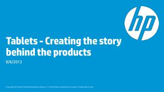 Tablets - Creating the story behind the products