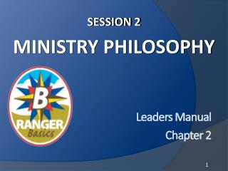 Session 2 Ministry Philosophy