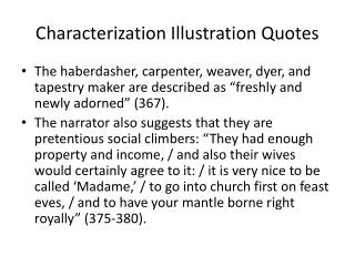 Characterization Illustration Quotes